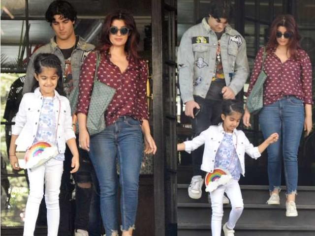 अक्षय कुमार की पत्नी ट्विंकल खन्ना बेटे आरव और बेटी नितारा संग सैर पर, देखें तस्वीरें