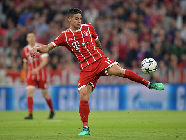Bayern's James out for weeks with knee ligament injury