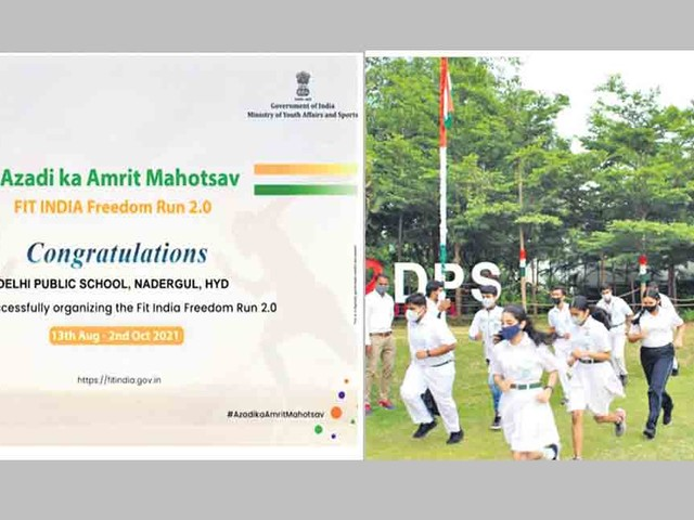 DPS: Good response to Fit India Freedom Run