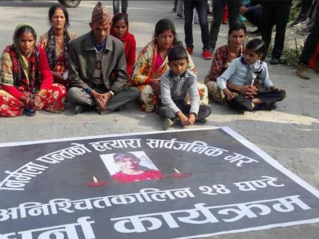 Fifth day of Panta family's sit-in protest; four more DNA test reports submitted