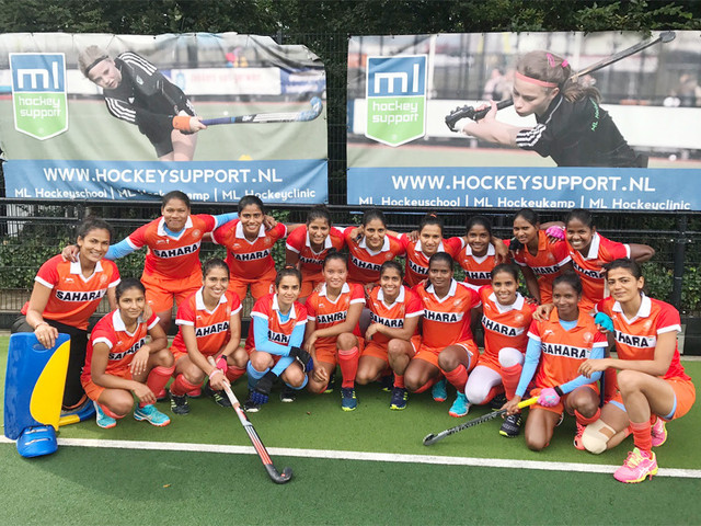 India women beat Belgium junior men's team 4-3