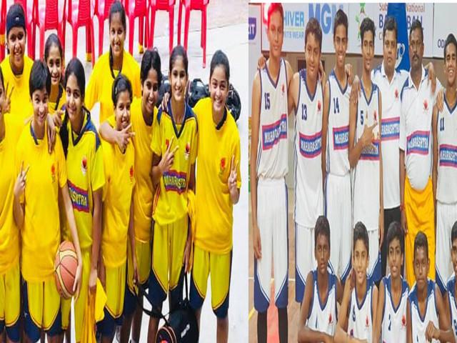 राष्ट्रीय बास्केटबॉलमध्ये महाराष्ट्रच्या मुलींना सिल्व्हर ; मुलांना ब्रॉंझ