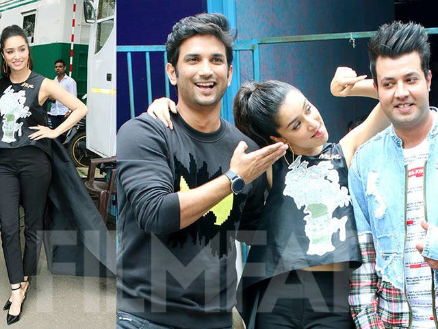 Shraddha Kapoor and Sushant Singh Rajput get goofy during Chhichhore promotions