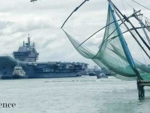 India's first indigenous aircraft carrier, INS Vikrant, begins sea trials