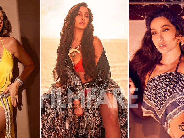 Inside pictures from Nora Fatehiâs photoshoot with Filmfare