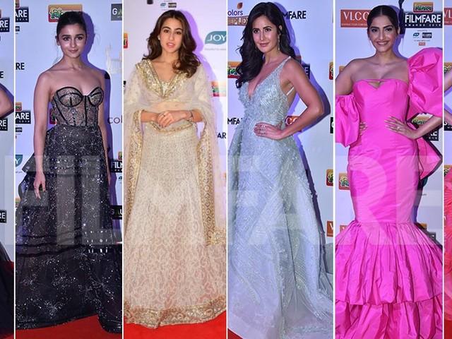 Best Dressed Divas at the 64th Vimal Filmfare Awards 2019