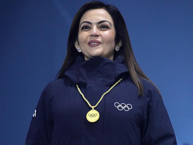Nita Ambani presents Alpine Skiing medals at Winter Olympics