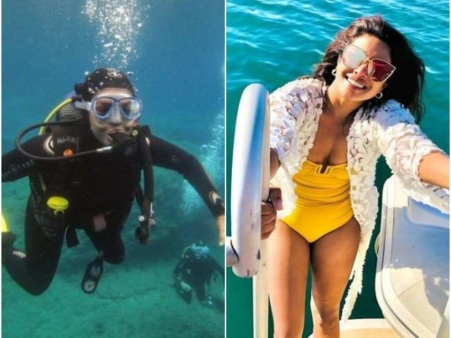 प्रियंका चोपड़ा ने देवर संग समंदर में लगाई डुबकी, वायरल हो रहा है स्कूबा डाइविंग का ये Video