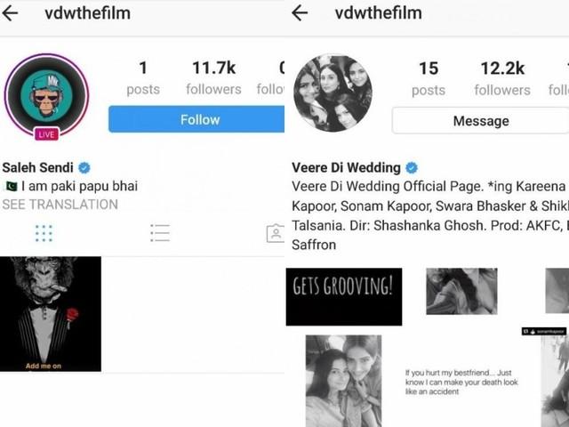 Hacker demands role in 'Veere Di Wedding'