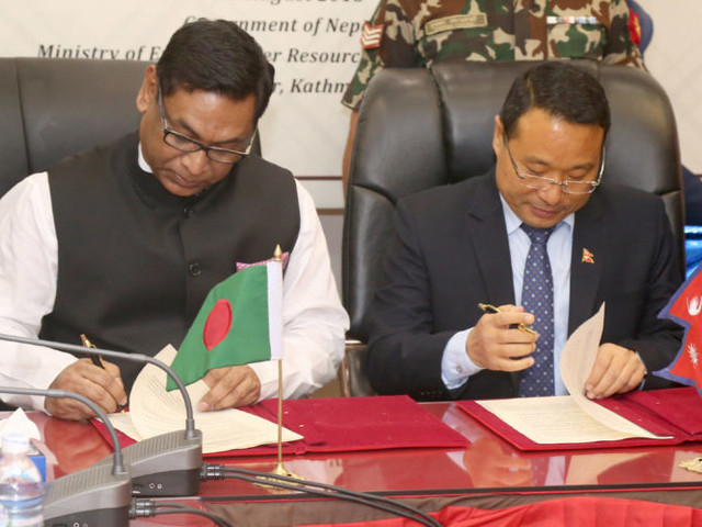 Nepal, B'desh ink MoU on energy cooperation