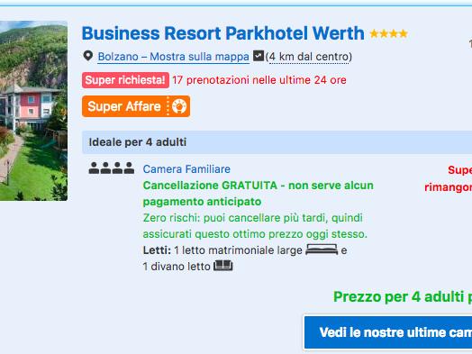 Mercatini di Natale in Alto Adige: soggiorno a Bolzano in Hotel&Spa 4* con colaz. da 45€/notte