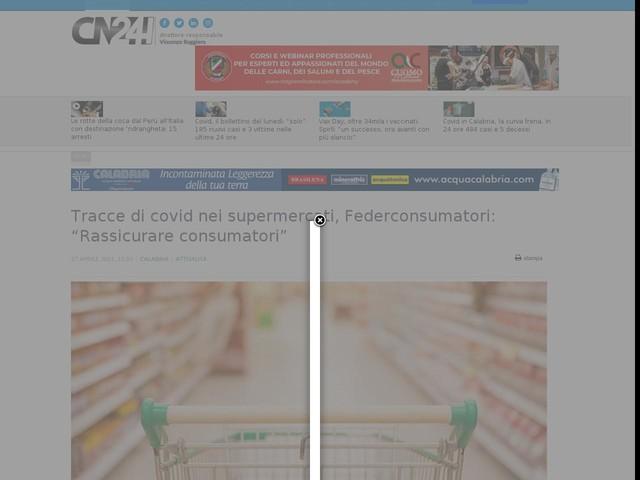 """Tracce di covid nei supermercati, Federconsumatori: """"Rassicurare consumatori"""""""