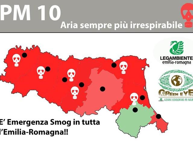 Prolungata ed estesa l'allerta smog in Emilia Romagna. Misure emergenziali dal 17 gennaio