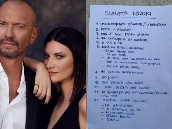 Laura Pausini e Biagio Antonacci, al via il tour negli Stadi: ecco la scaletta completa