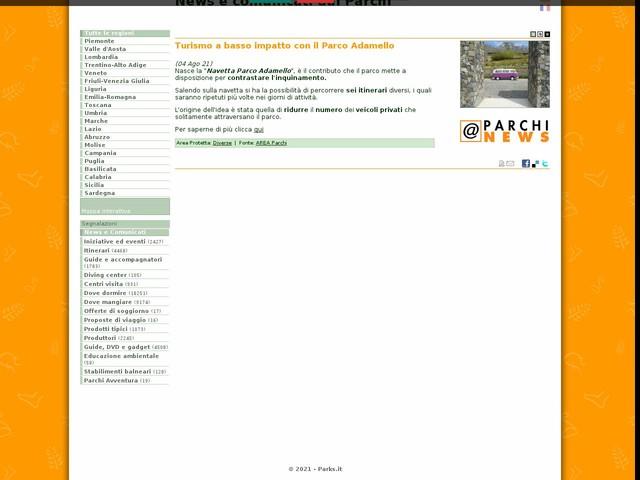 AREA Parchi - Turismo a basso impatto con il Parco Adamello
