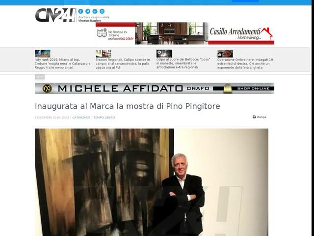 Inaugurata al Marca la mostra di Pino Pingitore