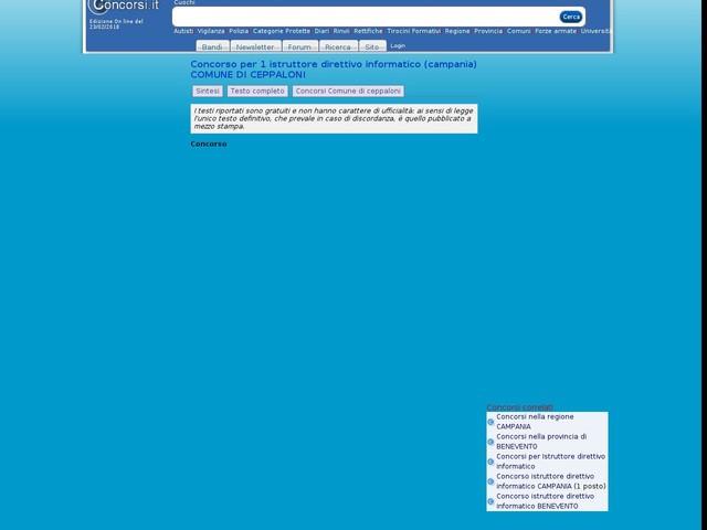 Istruttore direttivo informatico - BENEVENTO
