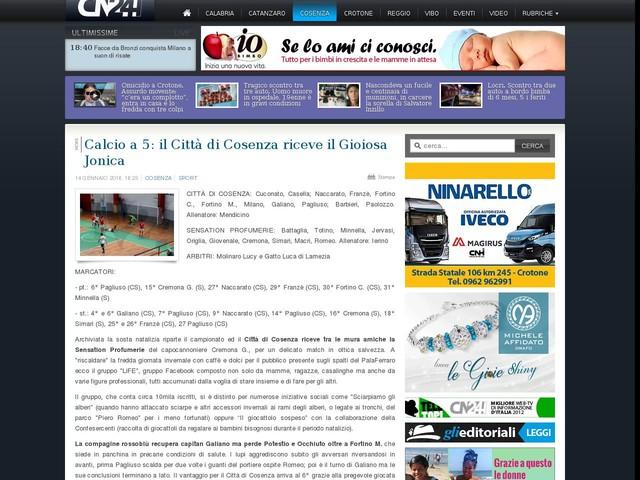 Calcio a 5: il Città di Cosenza riceve il Gioiosa Jonica