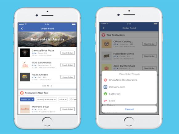 Facebook lancia Order Food, servizio per ordinare cibo