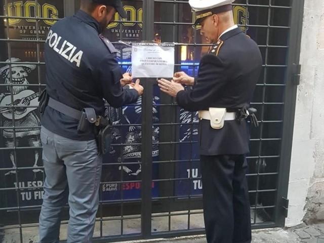 Trastevere. Controlli straordinari della Polizia di Stato. Chiuso un locale con sospensione della licenza.