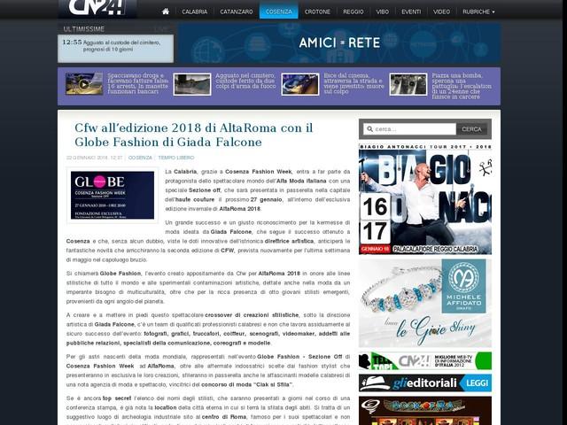 Cfw all'edizione 2018 di AltaRoma con il Globe Fashion di Giada Falcone
