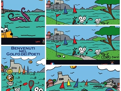 L'arte di Carlo Bacci per la nuova cartellonistica di Lerici nel Golfo dei Poeti