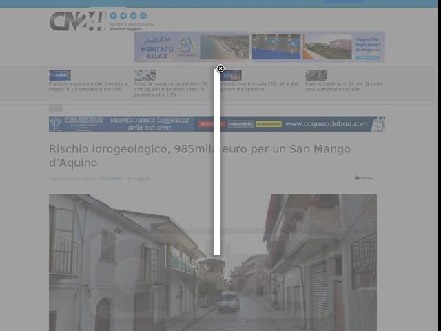 Rischio idrogeologico, 985mila euro per un San Mango d'Aquino