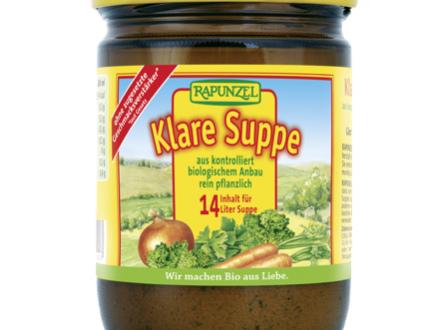 Brodo vegetale Klare Suppe Rapunzel richiamato: possibili frammenti di vetro nei vasetti. Interessata la provincia di Bolzano