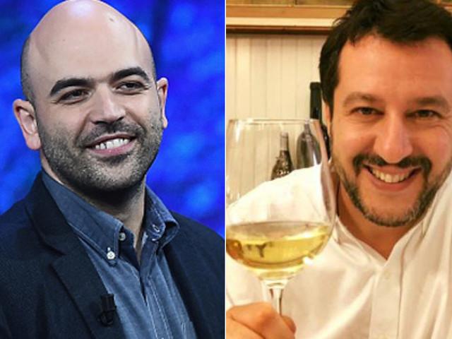 """Roberto Saviano risponde a Matteo Salvini: """"Biv Matte', famm' capì si me pozz' fida' 'e te!"""""""