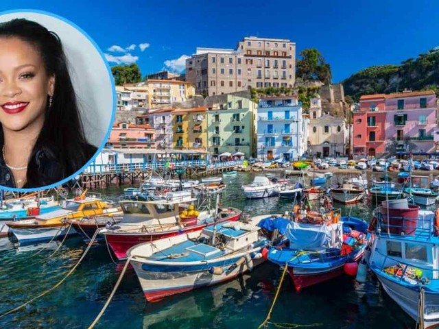 Rihanna: vacanze italiane tra Massa Lubrense e Capri