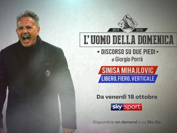 """Sinisa Mihajlovic è """"L'uomo della Domenica"""": appuntamento stasera su Sky Sport"""