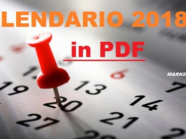 Calendario 2018 in pdf