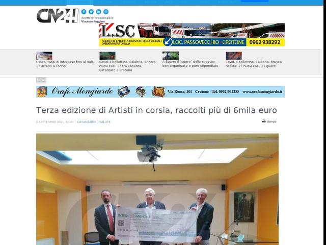 Terza edizione di Artisti in corsia, raccolti più di 6mila euro