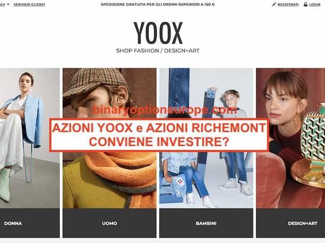 Azioni Yoox: conviene comprare? Quotazione valore azioni Richemont