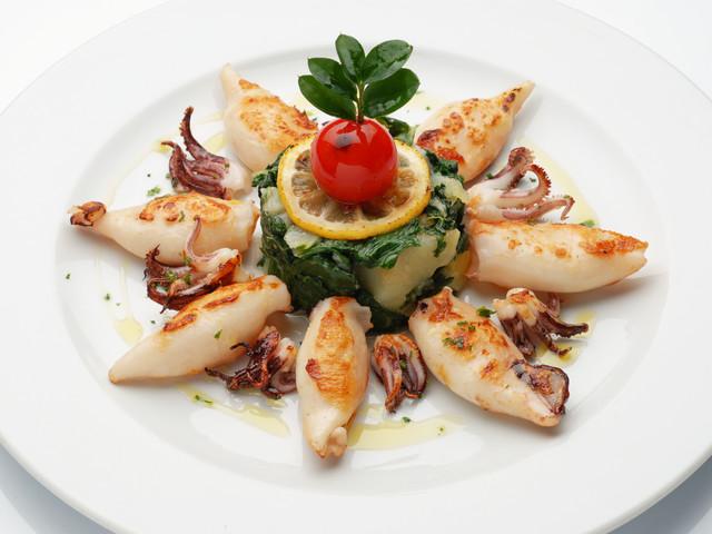 Calamari con bietole e patate