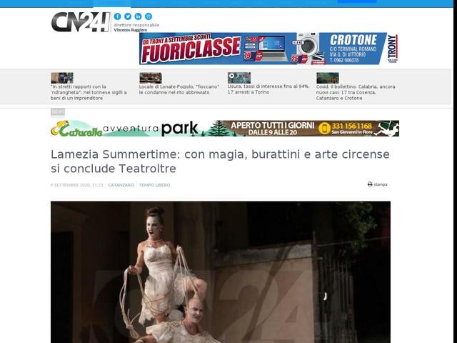 Lamezia Summertime: con magia, burattini e arte circense si conclude Teatroltre