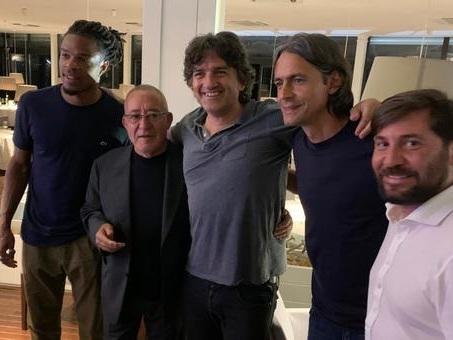 Pippo Inzaghi e i dirigenti del Benevento, cena con Remy a Posillipo per festeggiare la serie A