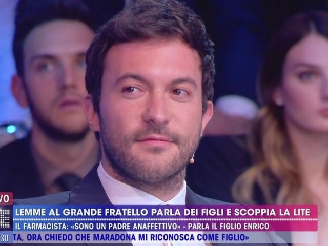 Enrico, figlio di Lemme, lo difende a Live non è la D'Urso | video Mediaset
