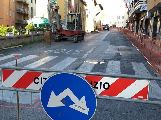 Anzio, chiusa Via Aldobrandini per lavori: «Intervento delicato di Acqualatina»