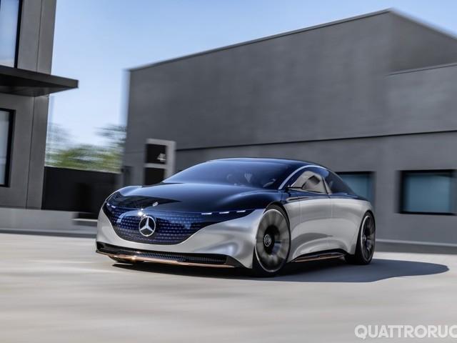 Mercedes Vision EQS - L'ammiraglia elettrica è pronta per la guida autonoma
