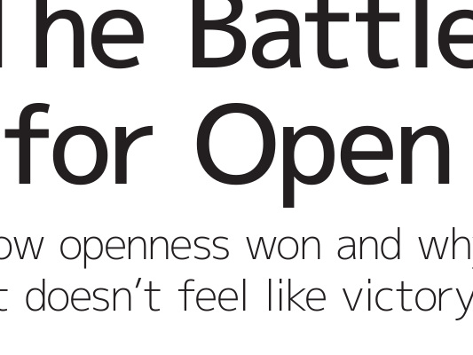 La battaglia per l'open | Cap. 1 – La vittoria dell'open | Par. 7 – Il libro