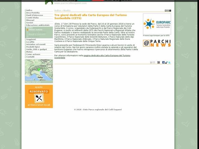 PR Colli Euganei - Tre giorni dedicati alla Carta Europea del Turismo Sostenibile (CETS)