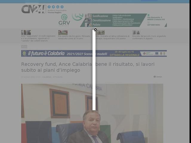 Recovery fund, Ance Calabria: bene il risultato, si lavori subito ai piani d'impiego
