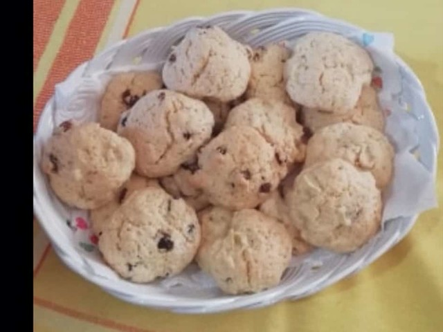 La ricette di Maria: i biscotti con l'uvetta