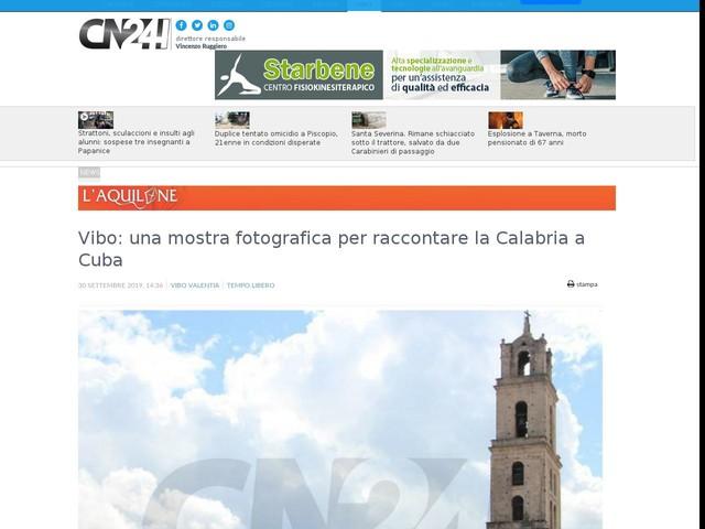 Vibo: una mostra fotografica per raccontare la Calabria a Cuba