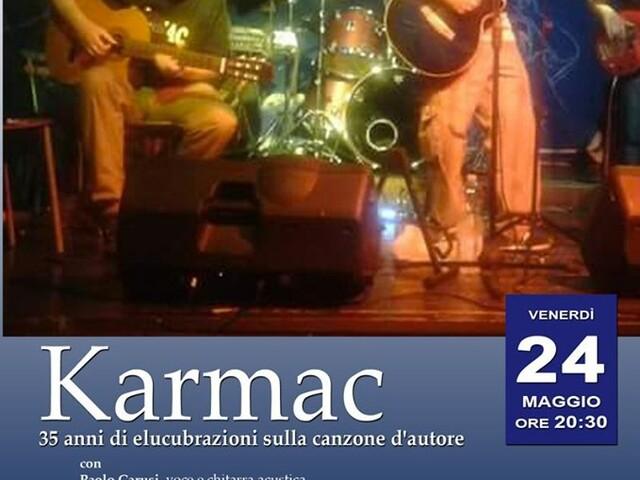 @TeatroArciliuto – Venerdì 24 maggio 2019 – il progetto Karmac e 35 anni di elucubrazioni sulla canzone d'autore