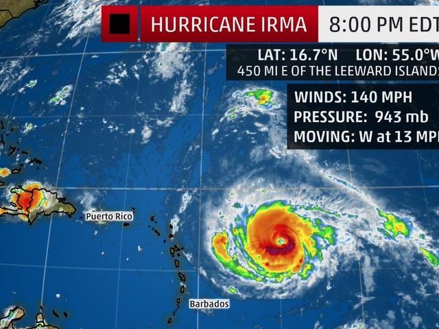 Un uragano devastante si sta per abbattere sui Caraibi!