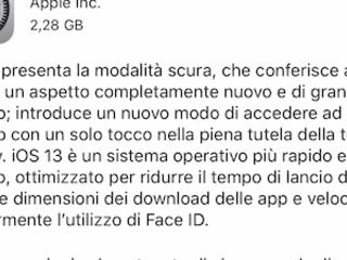 Apple rilascia iOS 13.