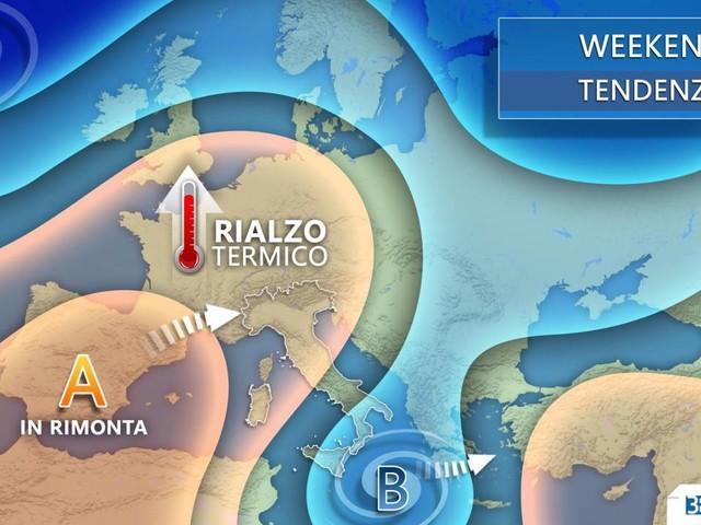 METEO -- da giovedì al WEEKEND Italia tra VORTICE MEDITERRANEO e anticiclone. Le conseguenze