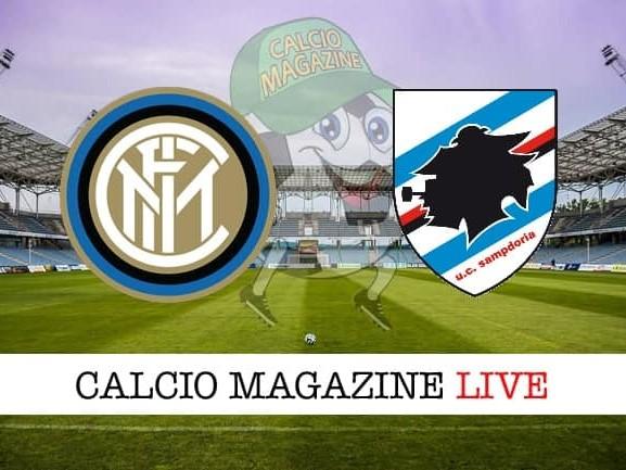 Inter – Sampdoria: cronaca diretta live, risultato in tempo reale